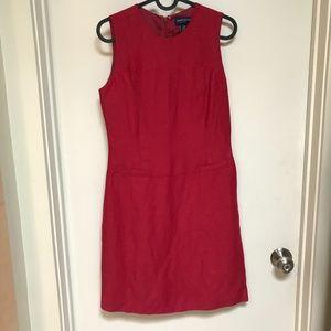 Ann Taylor Red Pencil Dress Size 4P